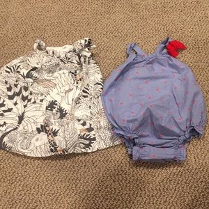 Baby girls 3-6 month gap dress and romper